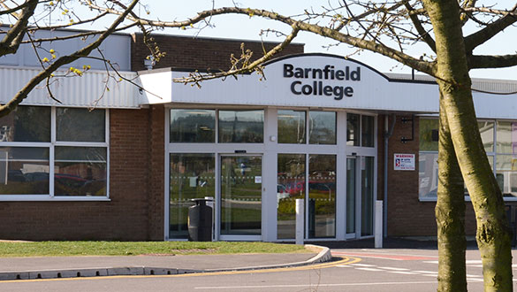 Barnfield College New Bedford Road campus reception