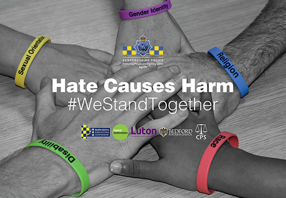 Hate Crime Awareness campaign poster