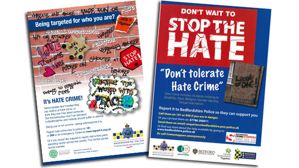 Hate Crime reporting posters