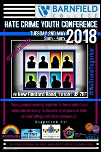 Barnfield College Hate Crime Youth Conference poster