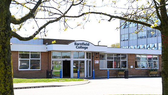 Barnfield College New Bedford Road reception