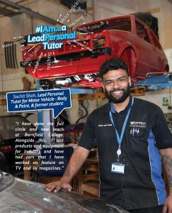 Sachit Shah, Lead Personal Tutor for Motor Vehicle - Body & Paint, and former student